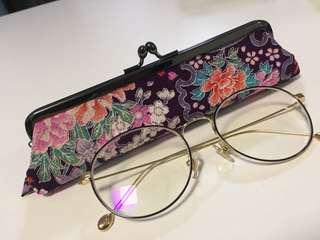 Beautiful Japanese Embroidery Fabric Case/ Make Up Case
