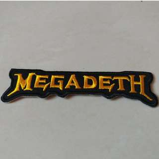 Megadeth - Logo Shaped Woven Patch Band Merch
