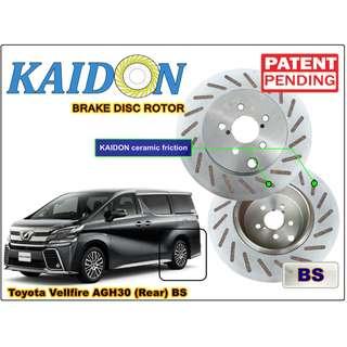 "TOYOTA Vellfire AGH30 disc brake rotor KAIDON (REAR) type ""BS"" / ""RS"" spec"