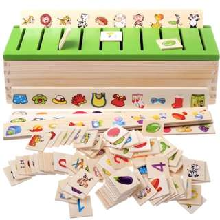 Montessori Matching Wooden Knowledge Classification Toy Box