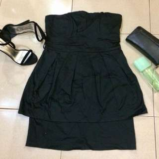 Imported Black Cocktail Dress