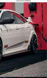 Honda Civic fc 10th gen rear fender Wide body attachment