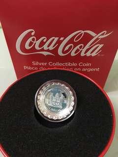 2018年 可口可樂 Coca-cola 銀幣 Silver Fiji 斐濟 $1