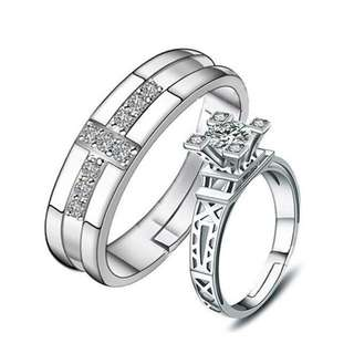 Couple Ring Lovers in Paris  Couple Ring Metal 92.5 Plated Couple Ring