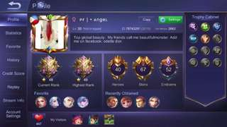 Selling mobile legends account pm me for more info