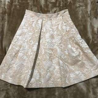Miss Selfridge Baby Pink High Waisted Skirt