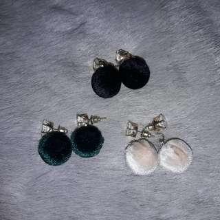 Fluffy ball earrings for only 50/pair