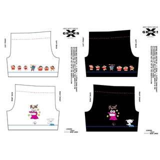 Preorder crayon shinchan sublimated ultimate frisbee shorts