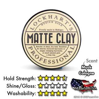 (Free mail)  Lockhart's Professional Matte Clay Pomade