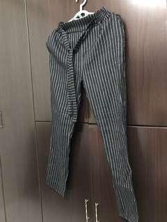 White lining black Long pants