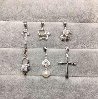 S925純銀+鋯石淡水珍珠吊咀