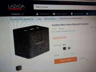 Creative micro nuno Bluetooth speaker