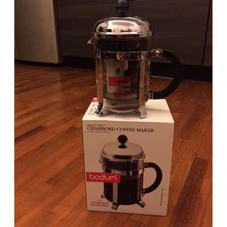 Bodum French Press Chambord coffee maker, 4 cup, never used