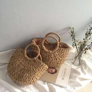 Popular trendy rattan woven bag