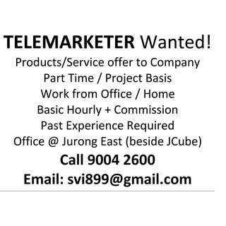 Part Time or Project Basis Telemarketer