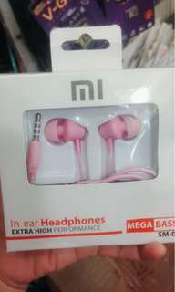 Headset pink for xiaomi
