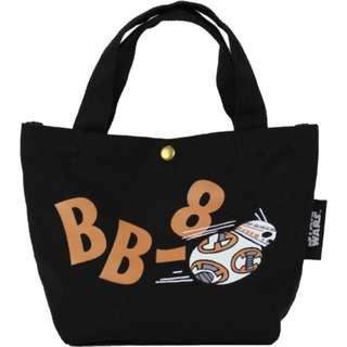 Japan Disney Star Wars BB-8 Print Canvas Mini Tote Bag
