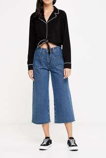 Cotton On Mid Rise Wide Leg Crop Jean