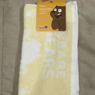 Miniso face towel yellow we are bear