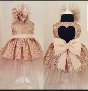 (Preorder) Baby girl Sequin Dress..