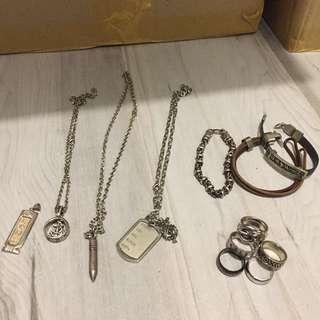 Boy's ring bracelet necklace 戒指 手鏈 頸鏈