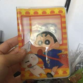 Shin chan passport holder