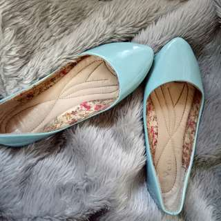 Pastel blue doll shoes