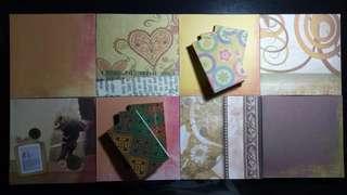 Blank notebooks/notepads