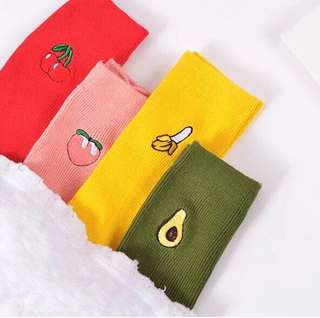 [PO] Fruits Embroidered Socks