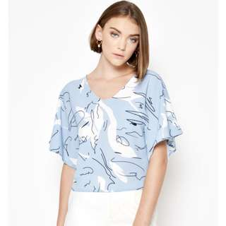 Love and Bravery Milly Printed Line Work Top
