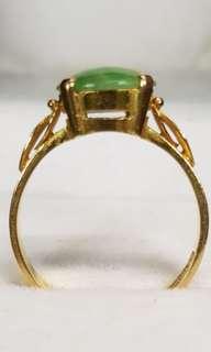 916 Gold Ring Jade