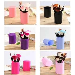 Pastel Tube Makeup Brush 12 Set