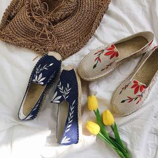 Summer Embroidery Espadrilles
