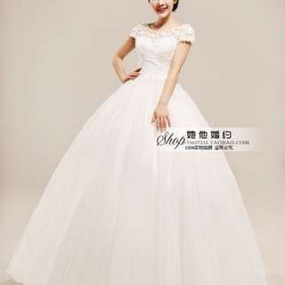 Wedding dress free veil