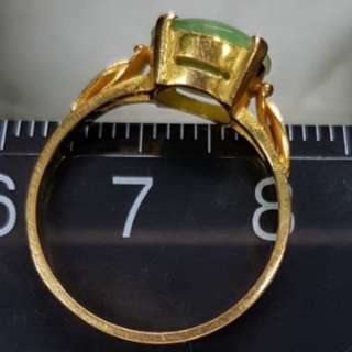 916 Gold Ring Jade