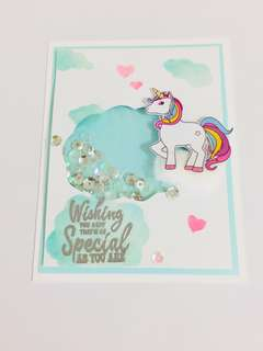 Shaker Birthday Card / Friendship Card