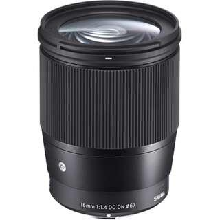 Sigma 16mm f/1.4 DC DN Contemporary Lens for Sony E