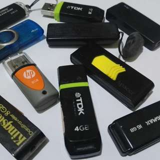 Flash Drives (HP, Kingston, Apacer, TDK, Kingmax) | All in perfect working conditions | Package