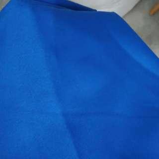 Royal Blue Yellow Line Uniform Fabric