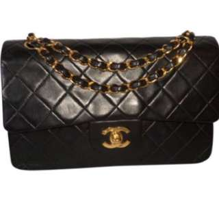 Vintage Chanel Classic timeless double flap leather handbag