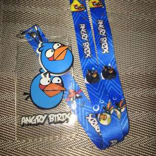 Angry Bird Lanyard card holder