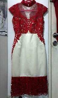 Qipao cheongsam merah putih