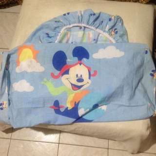 mickey crib fitted sheet