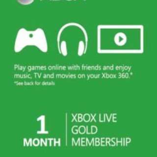 Xbox Live 1month