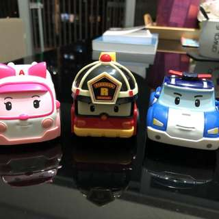 Robocar Poli (set of three)