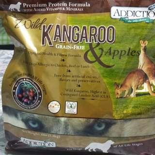 Dog food wild kangaroo grain free&Aplles