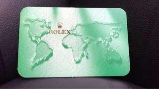 Rolex 年曆咭