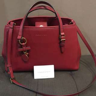 Charles & Keith Authentic Red bag with sling strap negotiable*