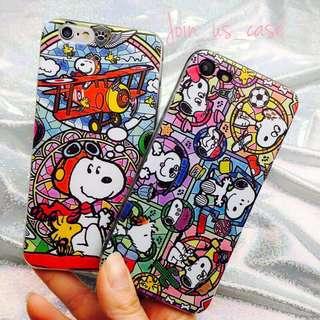 琉璃Snoopy 手機殻 (6/6s/6+/6s+/7/7+/8/8+/X)