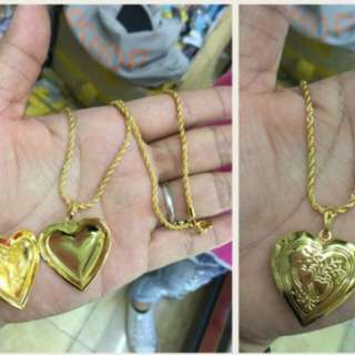 10k Saudi Necklace Locket Big